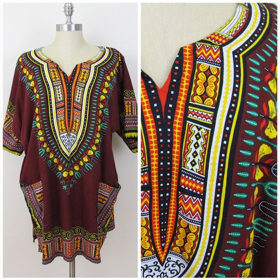 70s oversized dashiki shirt NoeCcyl8jg