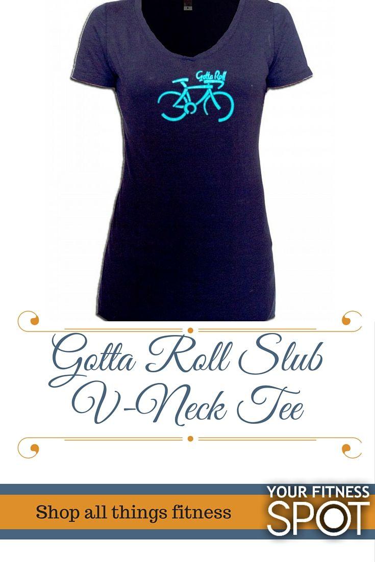 Gotta Roll Slub V-Neck Tee|$19.99| Midnight Navy| #yourfitnessspot #womensactivewear