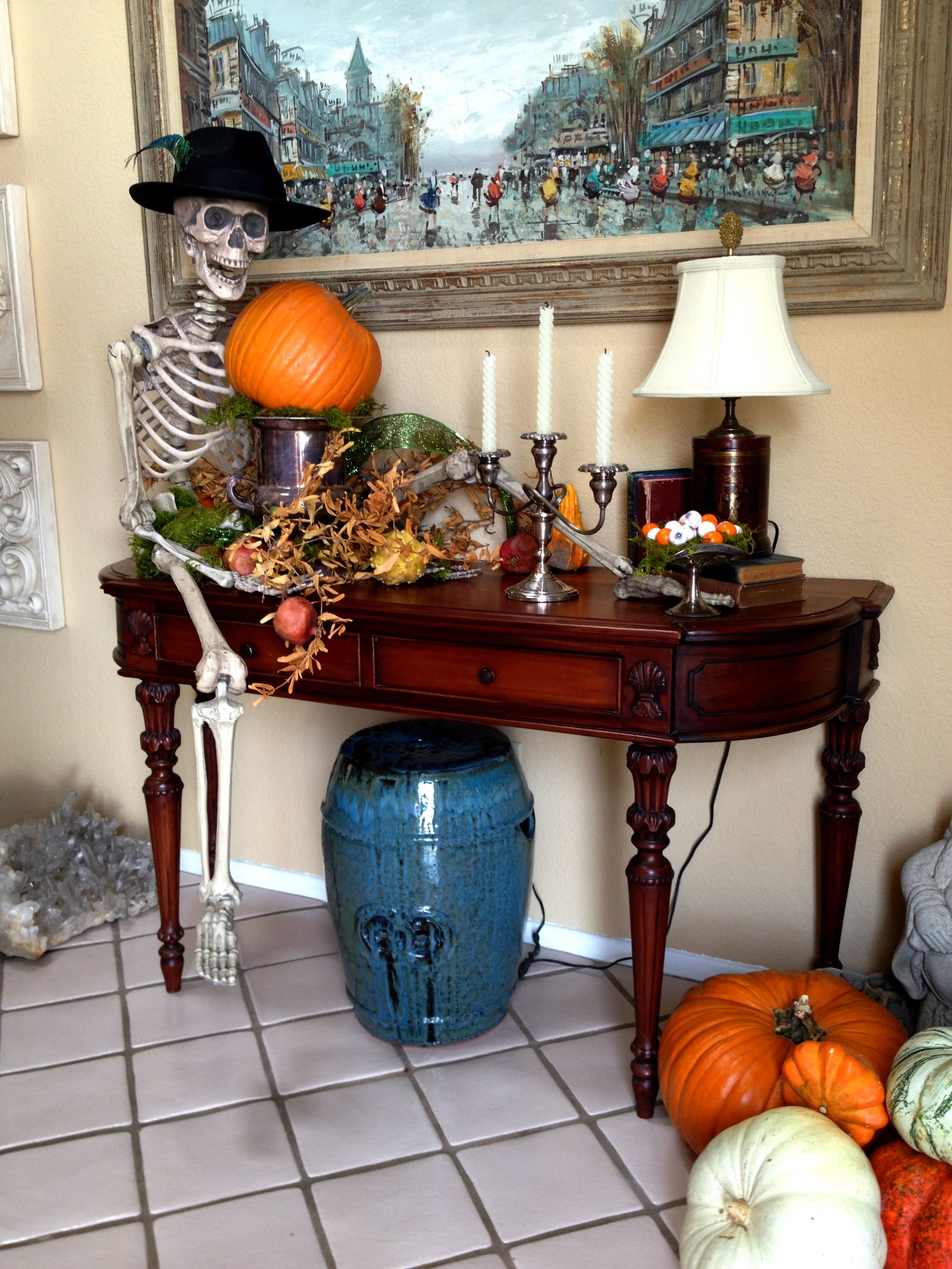 http://ridingsdesigns.webs.com/  #halloween #spooky #decorations #holiday #skeleton #pumpkins #homedecor