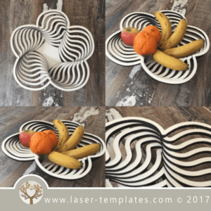 Fruit Bowl 15 & Fruit Bowl 15 | Design files Laser cutting and Template