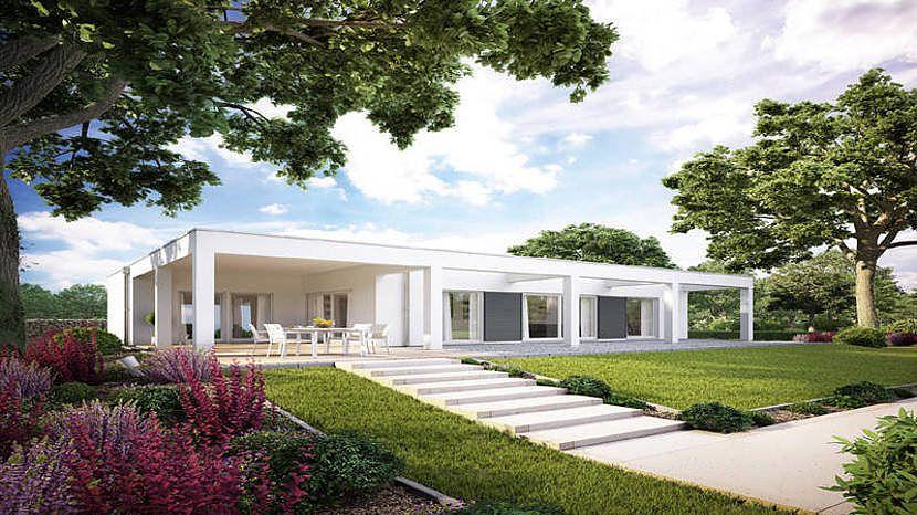 Modernes holzhaus bungalow  Haus-Detailseite | Überdachung terrasse, Überdachungen und Terrasse