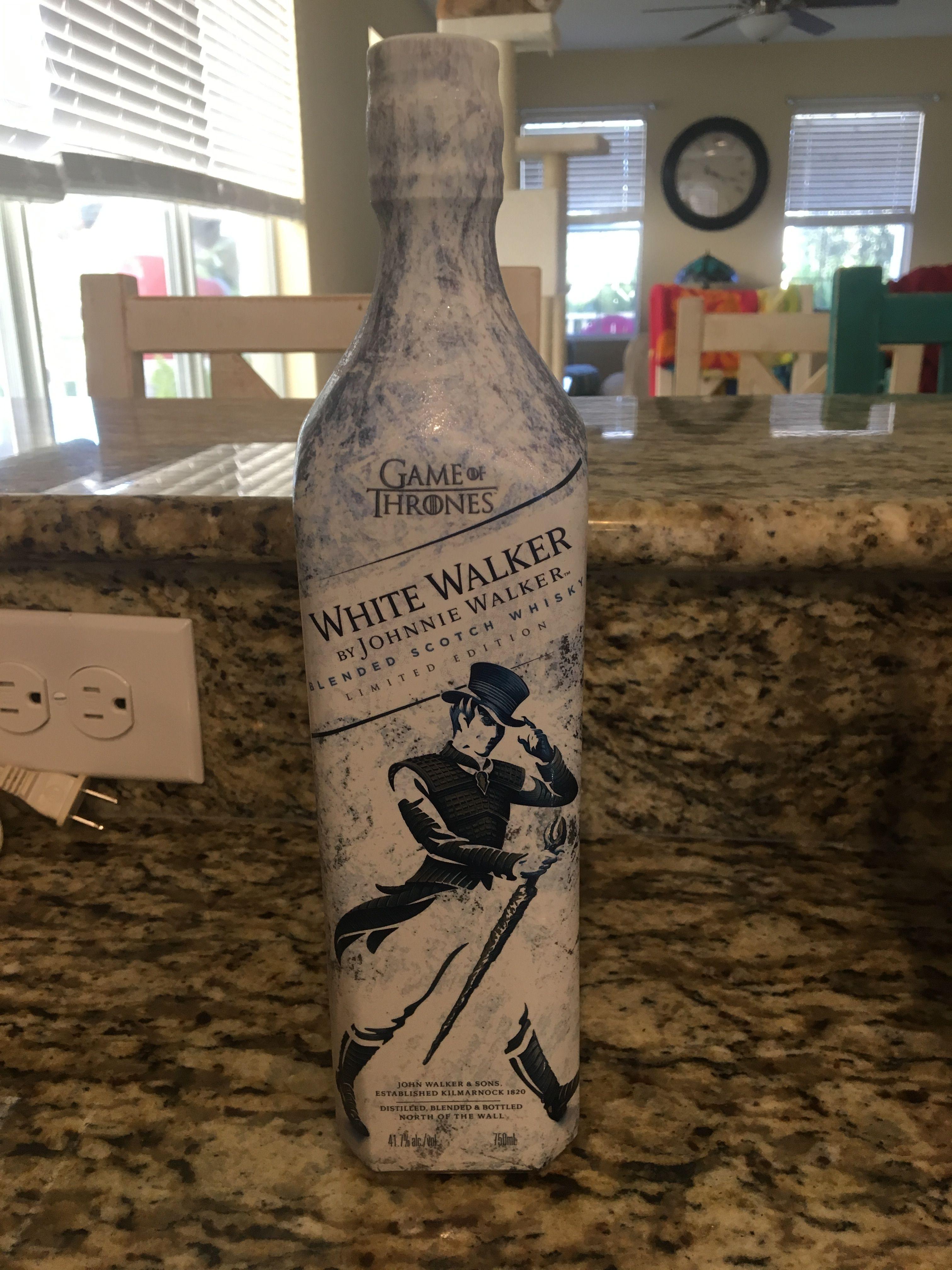 Johnny Walker White Walker Game of Thrones Vodka bottle