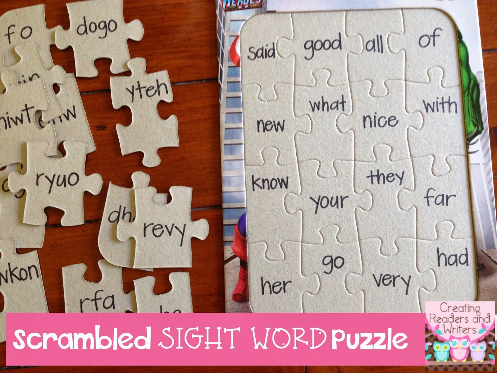 Sight Word Practice Puzzles Children Unscramble The Letters In The Mixed Up Sight Words To Put