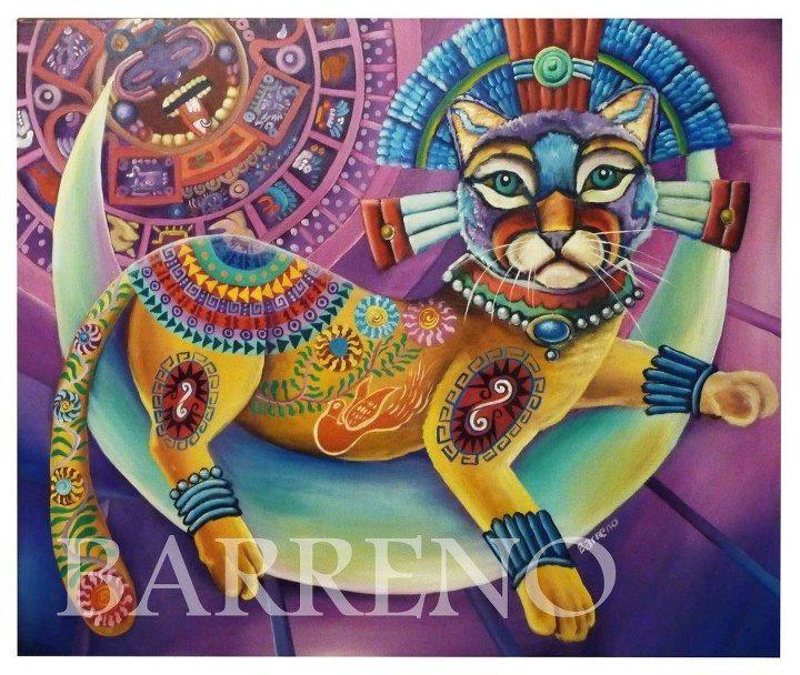 Reyna. Acrylic on canvas by Cristian Barreno