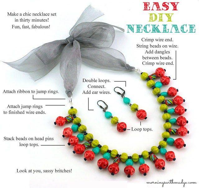 Easy DIY Necklace Steps