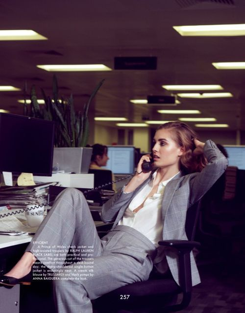 Workwear Nadja Bender by Benjamin Alexander Huseby for The Gentlewoman  Spring Summer 2013 8db6b2e451e5e