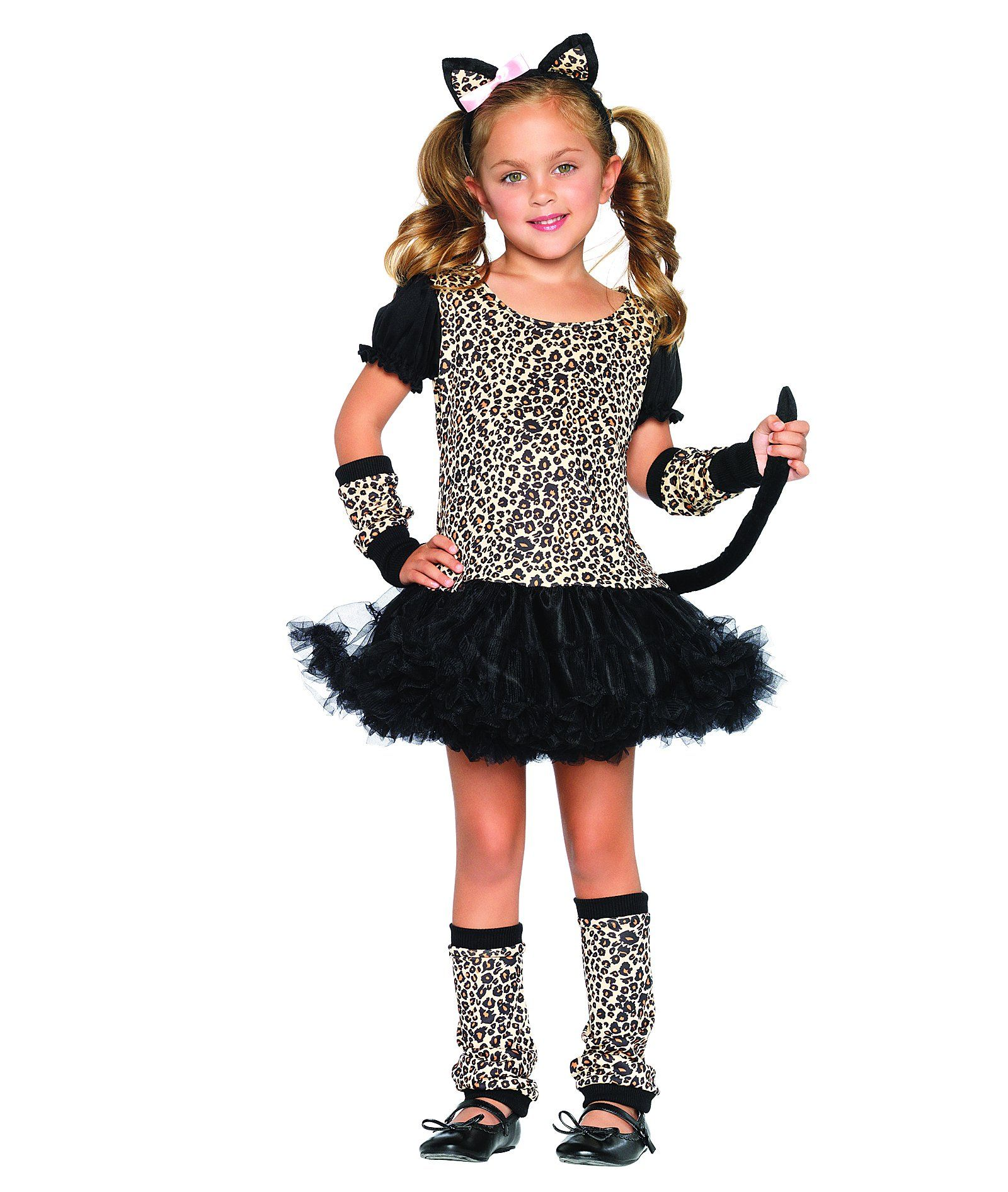 Glitter Cat Kit Kitty Animal Black Dress Up Halloween Adult Costume Accessory