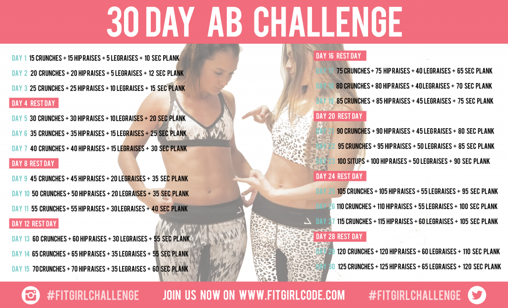 30 DAY AB CHALLENGE #abchallenge