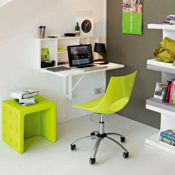 holztisch klappbar grün klapptisch wandmontage THIS N THAT - jugendzimmer gestaltung originelle ideen von denis khramov
