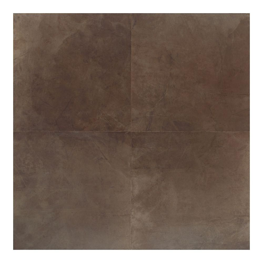 Daltile Concrete Connection Eastside Brown 20 In X 20 In Porcelain Floor And Wall Tile 16 2 Brown Porcelain Tiles Porcelain Flooring Porcelain Tiles Kitchen
