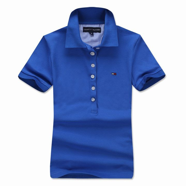 Tommy Hilfiger UK Women's Slim Fit Short Sleeve Polo Shirt In Blue