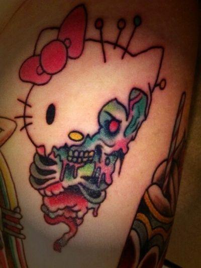 f069e02c70533 hello kitty zombie tattoos - Google Search | Ink | Tatuajes