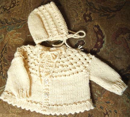 Knitted 5 hour baby sweater separate hat or hood your choice knitted 5 hour baby sweater separate hat or hood your choice free knittingbaby dt1010fo