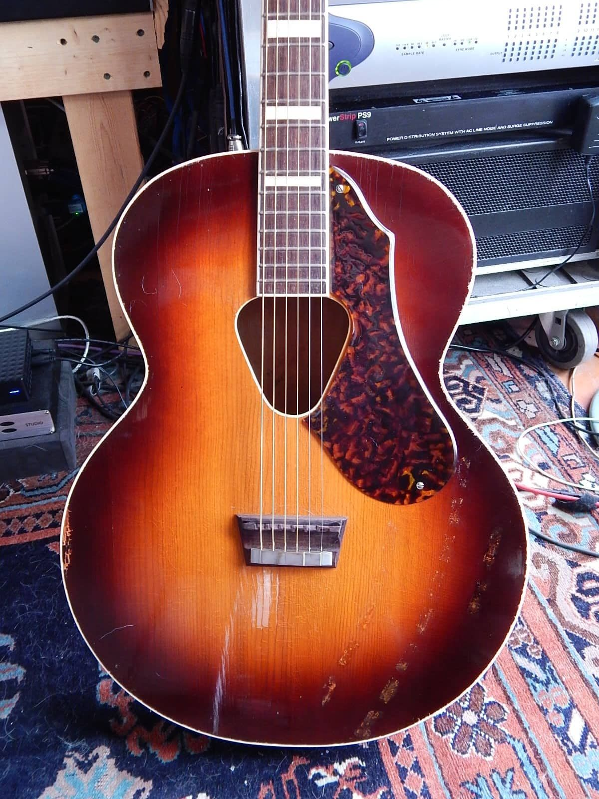 Vintage 1948 Gretsch Synchromatic 75 Flat Top Acoustic Guitar East Hoosick Vintage Guitars Reverb Guitar Acoustic Guitar Acoustic