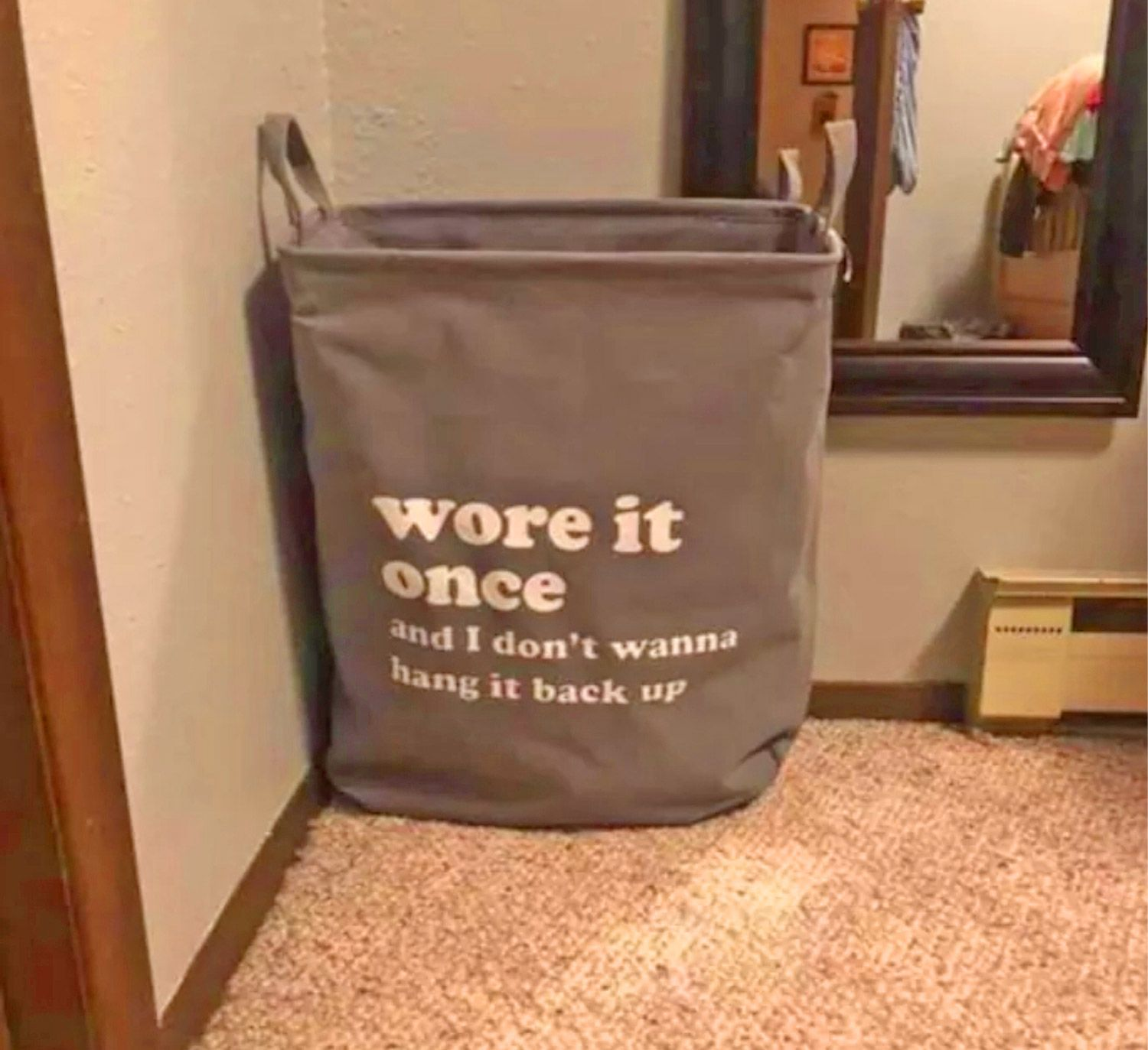 There S Now A Wore It Once Laundry Bag That Can Replace That