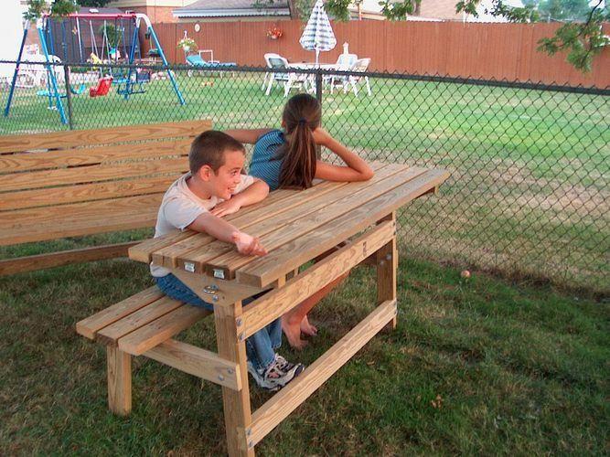 Convertible Park Bench Picnic Table Plans Picnic Table