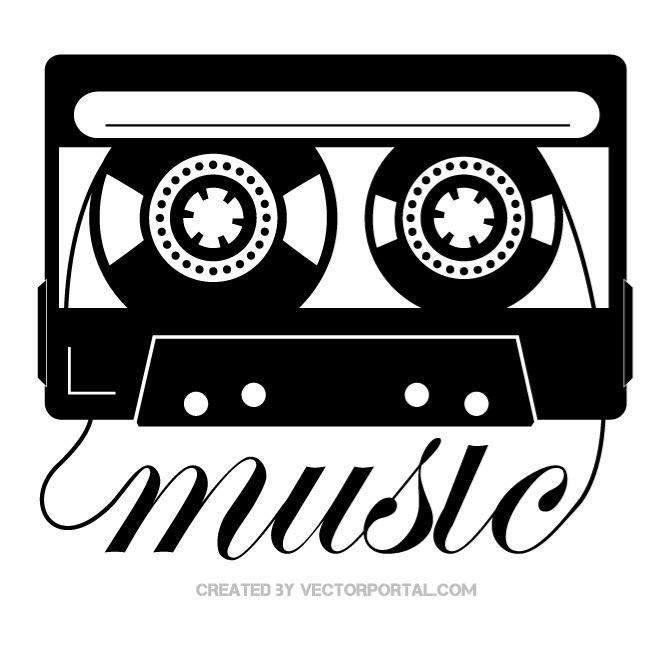 Cassette Tape Clipart Black And White