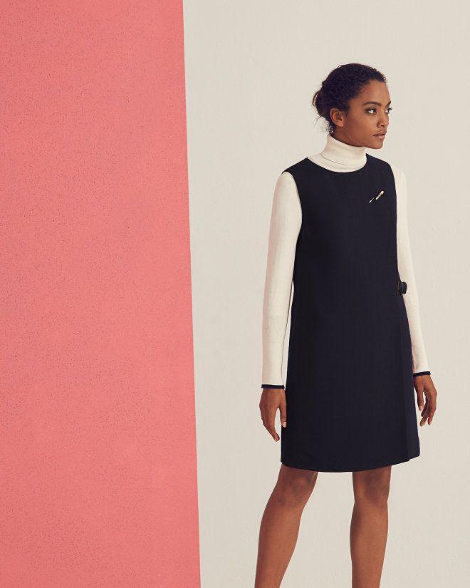 Belted shift dress - Dark Blue | Dresses | Ted Baker | Winter Fash ...