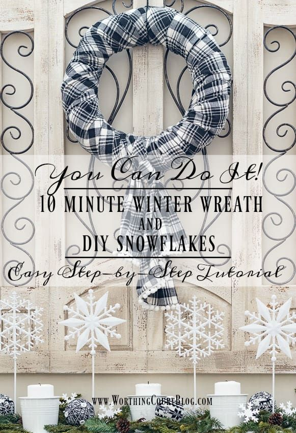 Photo of How To Make A Fast And Easy Winter Wreath And DIY Snowflake Display | Worthing Court
