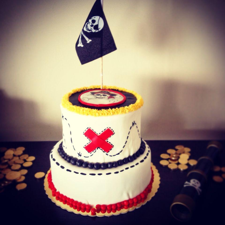 Pirate cake party - torta pirata fiesta pastel