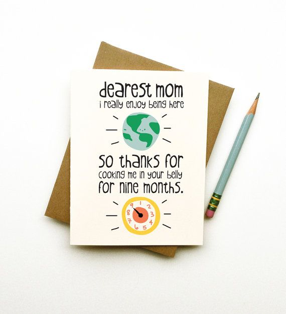 Thanks for Cooking Me Mom card mothers day birthday funny cute – Birthday Cards Ideas for Mom