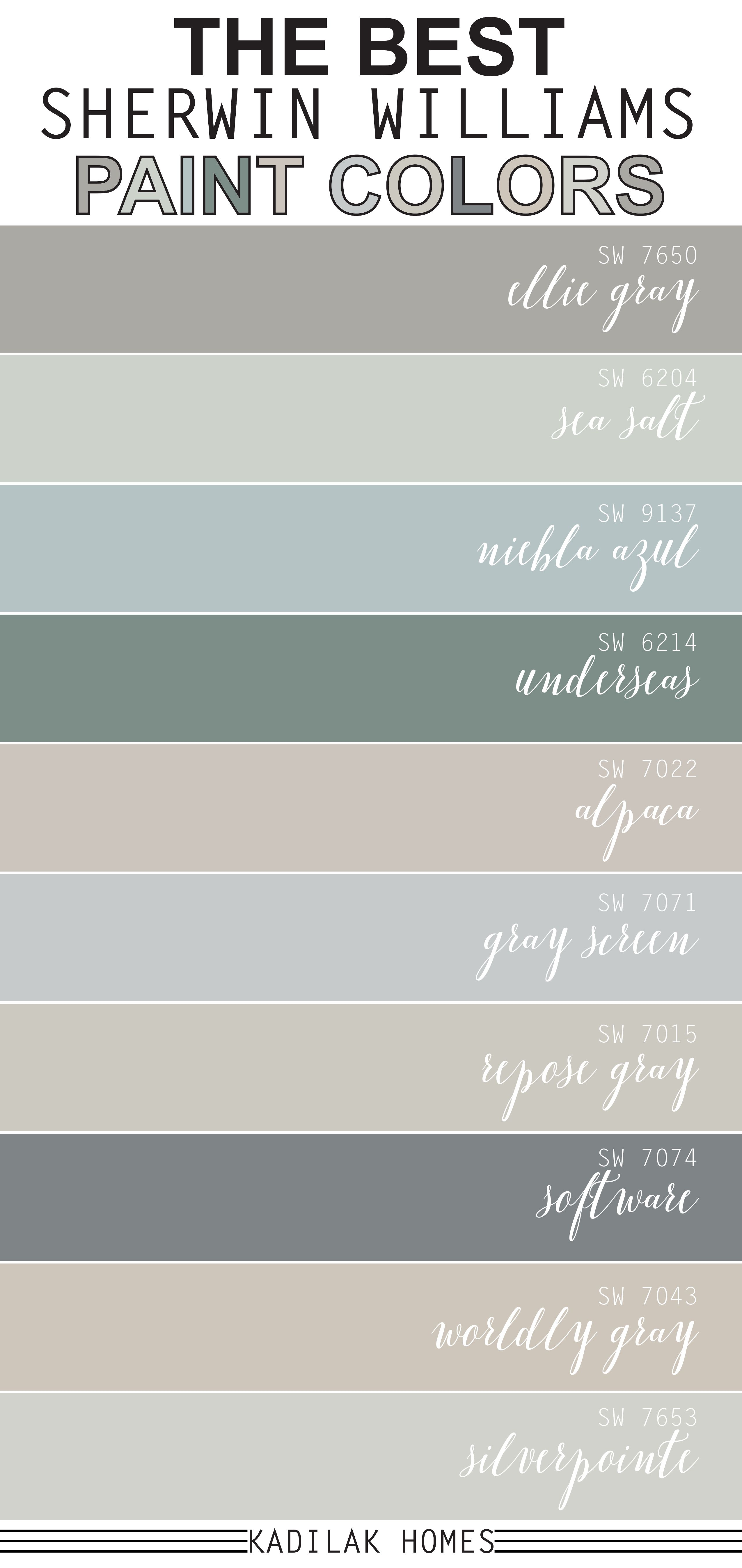 The Best Sherwin Williams Paint Colors Best Sherwin Williams Paint Sherwin Williams Paint Colors Paint Colors For Home