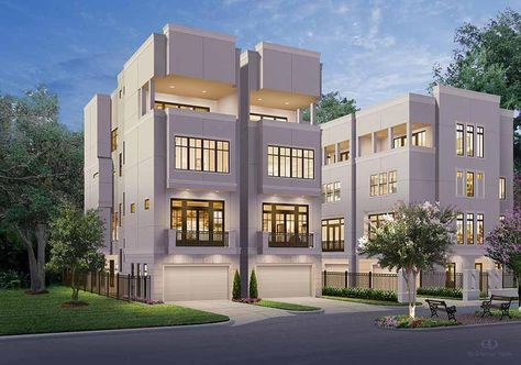 Buy Townhouse Plans Online, Cool TownHome Designs