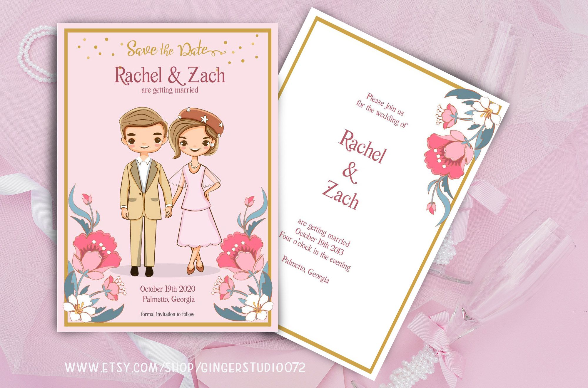 Diy Printable Editable Cute Wedding Invitation Card Template Etsy In 2020 Wedding Invitation Card Template Wedding Cards Wedding Invitation Cards