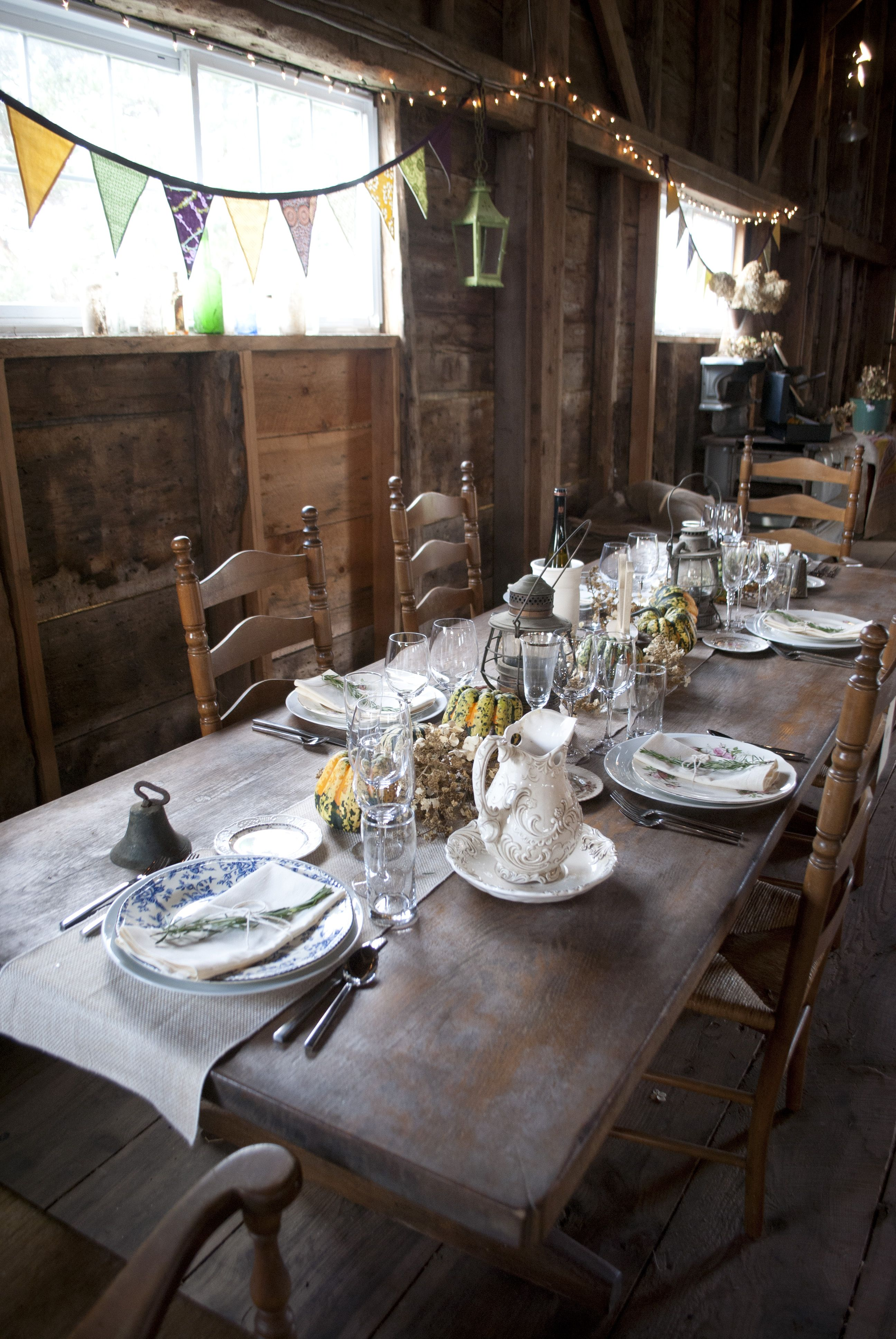 The 200yearold Maine barn decorated for a rustic wedding