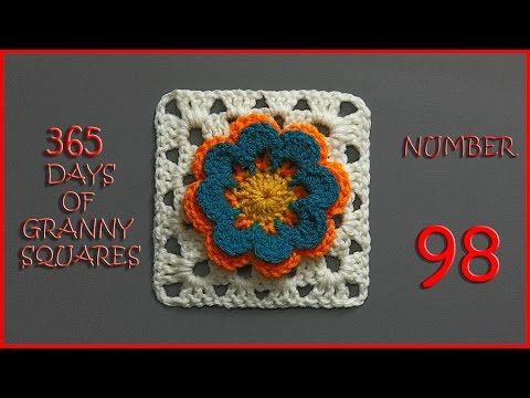 365 Days of Granny Squares Number 98 - YouTube