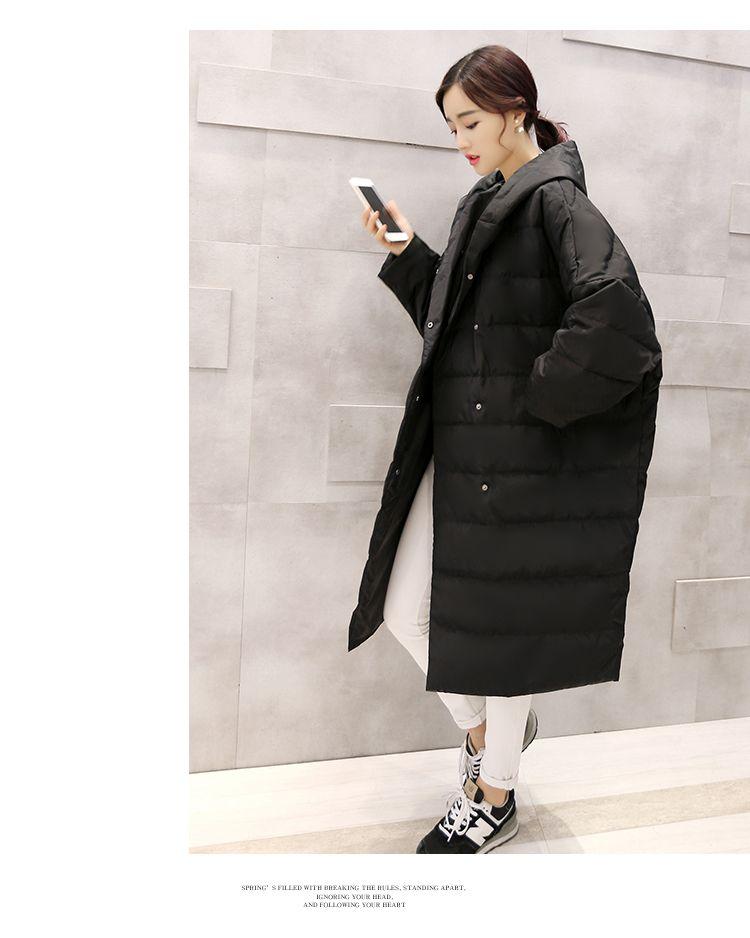 2015 новых корея мода нью зимы женщин пуховик женский длинные рукава летучая мышь свободного покроя с капюшоном пальто плащ беременных и пиджаки Большой размер ZS481 купить на AliExpress
