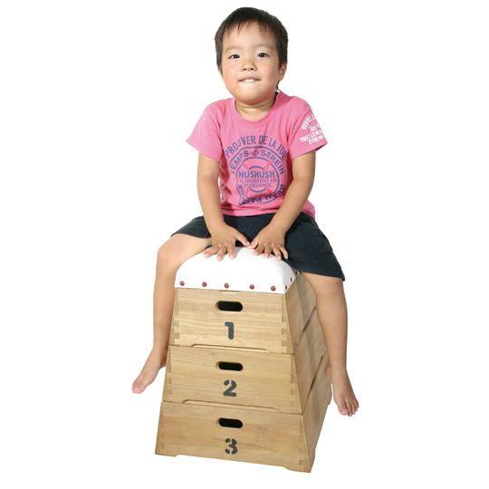 【送料無料】【国産】 跳び箱おもちゃ箱 3段≪シンバ≫【かわいい インテリア 雑貨 内祝い 誕生日 バースデー プレゼント 贈り物 ギフト お祝い】