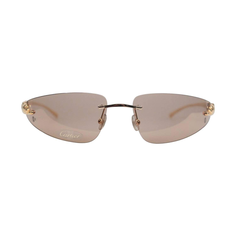 09f1428d3a201 Cartier Paris Sunglasses Panthere T8200611 Gold Brown 110