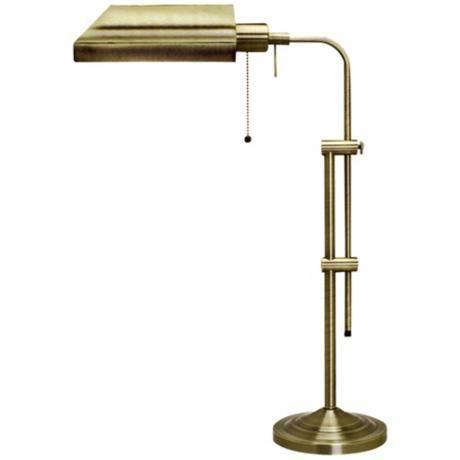 Metal Desk Lamps Table Lamp Brushed, Antique Brass Metal Adjustable Pole Pharmacy Desk Lamp