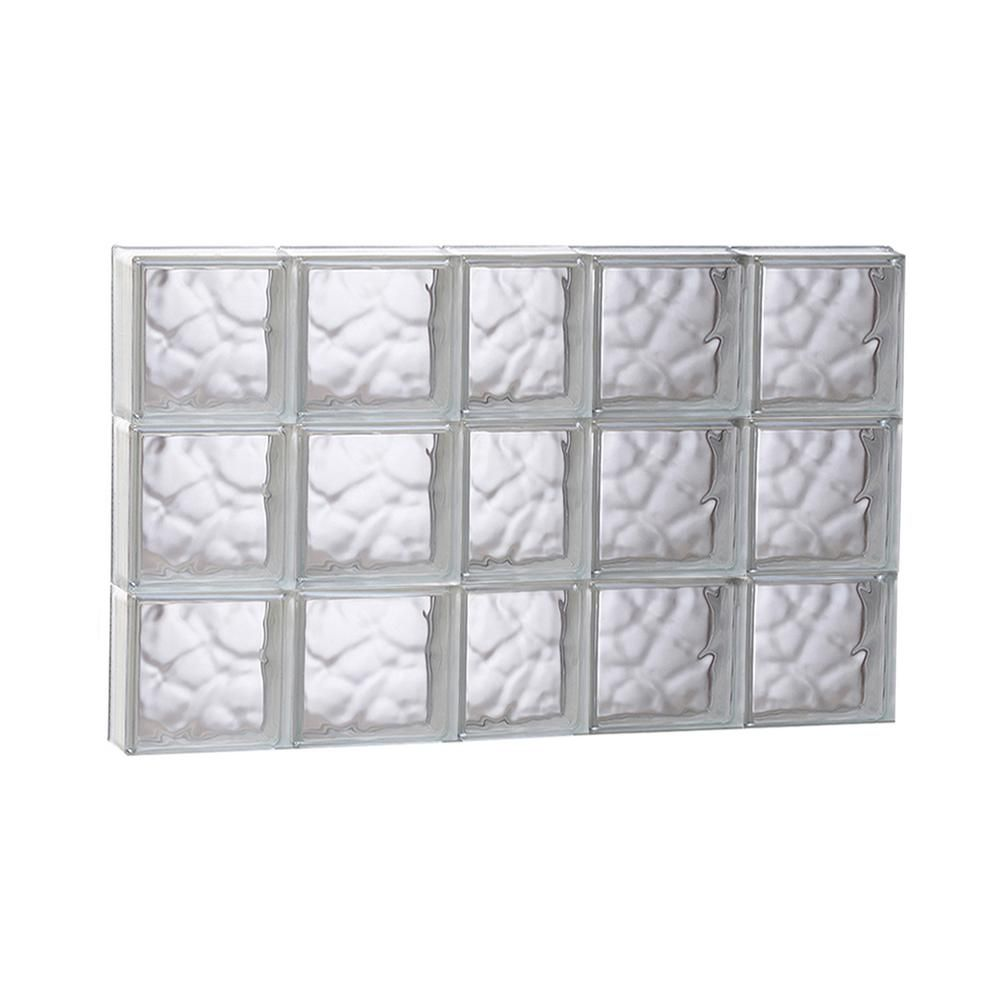 36.75 in. x 23.25 in. x 3.125 in. Wave Pattern Non-Vented Glass ...