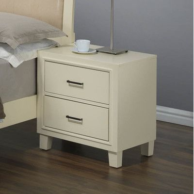 Glory Furniture Weller 2 Drawer Nightstand Finish