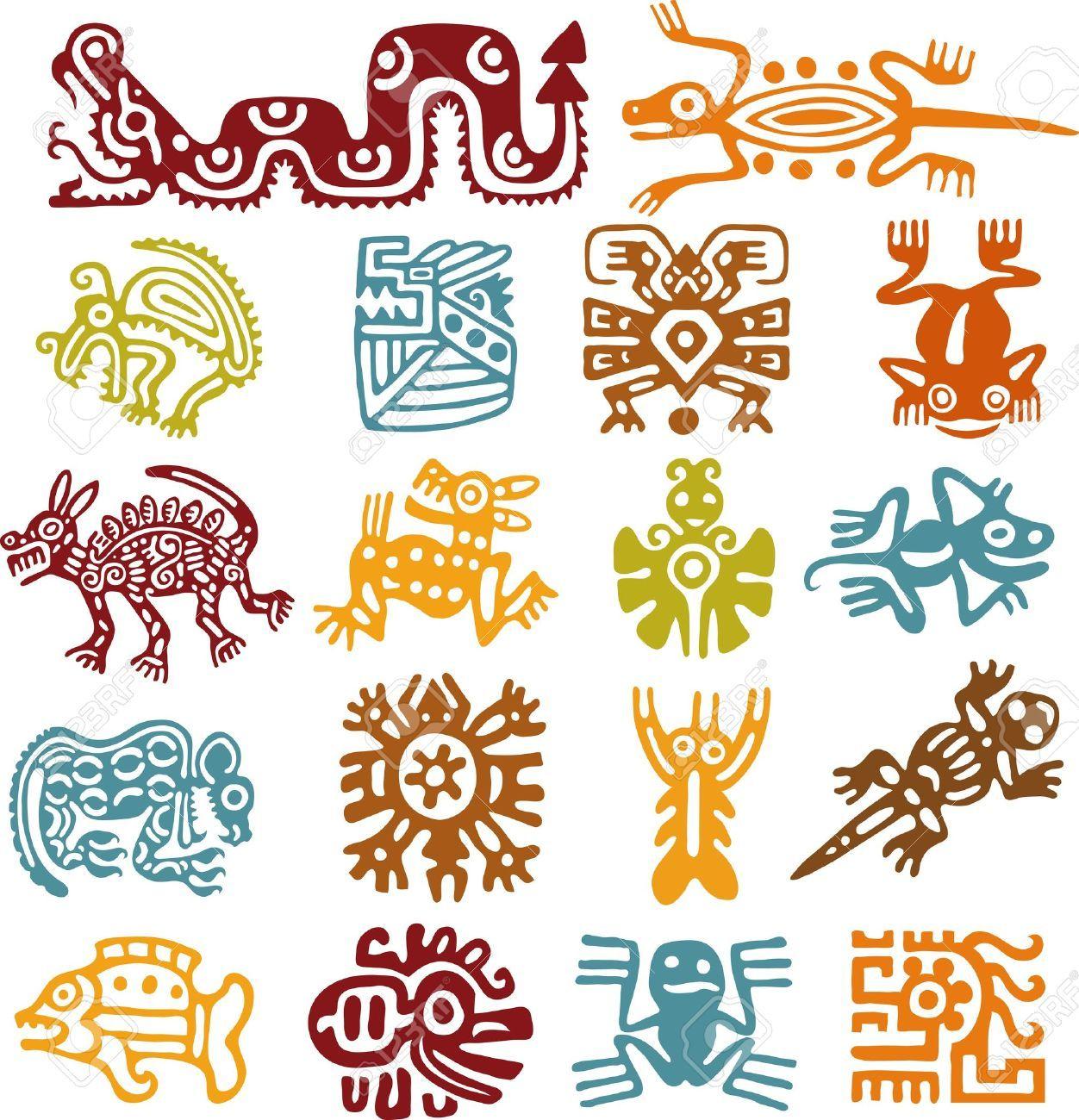 Aztec Symbol Images Stock Pictures Royalty Free Aztec Symbol