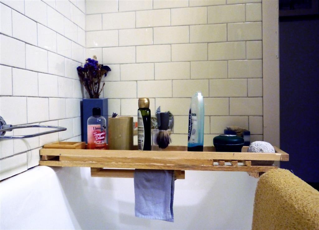 Vasca Da Bagno Jazz : Portaoggetti per vasca da bagno realizzato con spatola in legno per