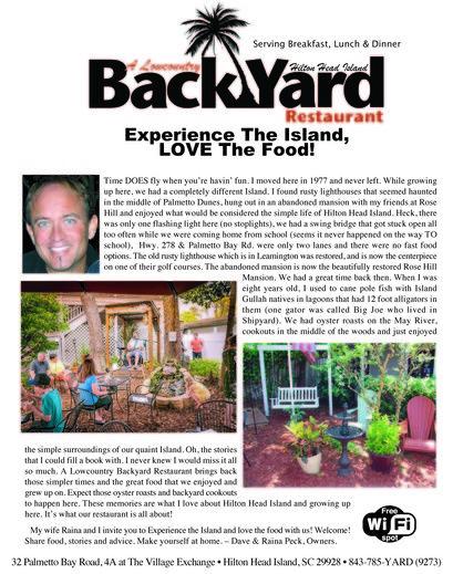 A lowcountry backyard restaurant hilton head. Lowcountry ...