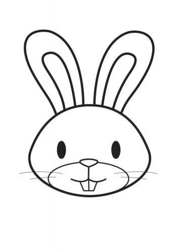 Kleurplaat Konijn Coloring Page Rabbit Bunny Coloriage Tete De