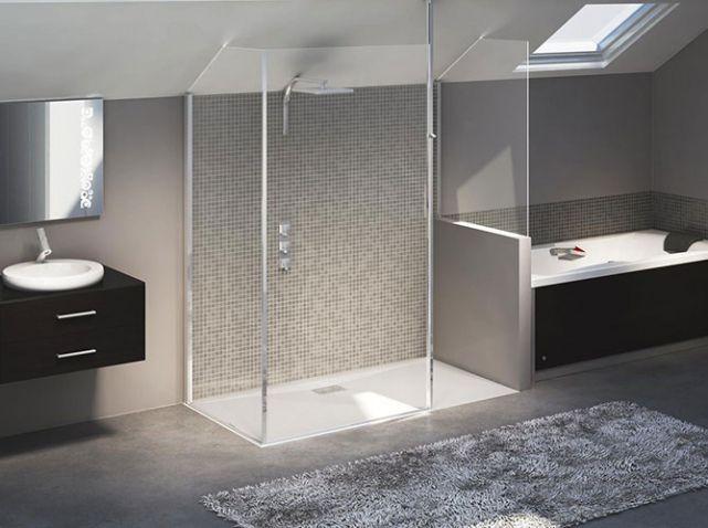 Douche l 39 italienne tous les styles sont permis elle - Paravent douche italienne ...