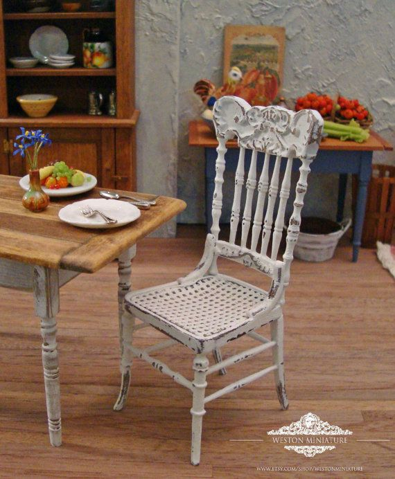 Hey, I found this really awesome Etsy listing at https://www.etsy.com/listing/196070022/shabby-white-pressback-chair-112-scale