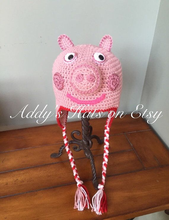 Peppa Pig Inspired Hat You Choose Size Ideen Für Kinder