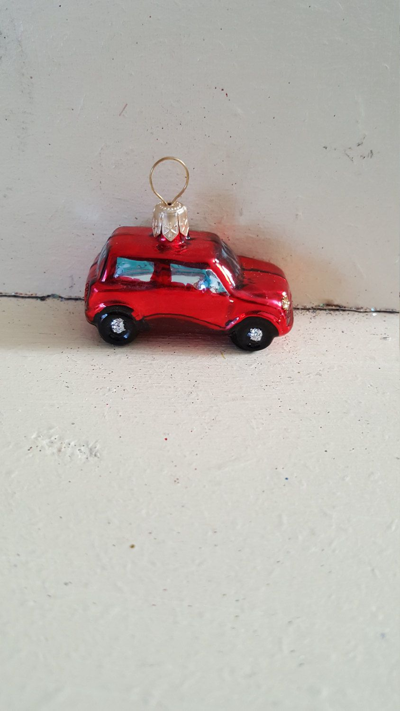 Blown Glass Mini Cooper Estate Car Christmas Tree Ornament