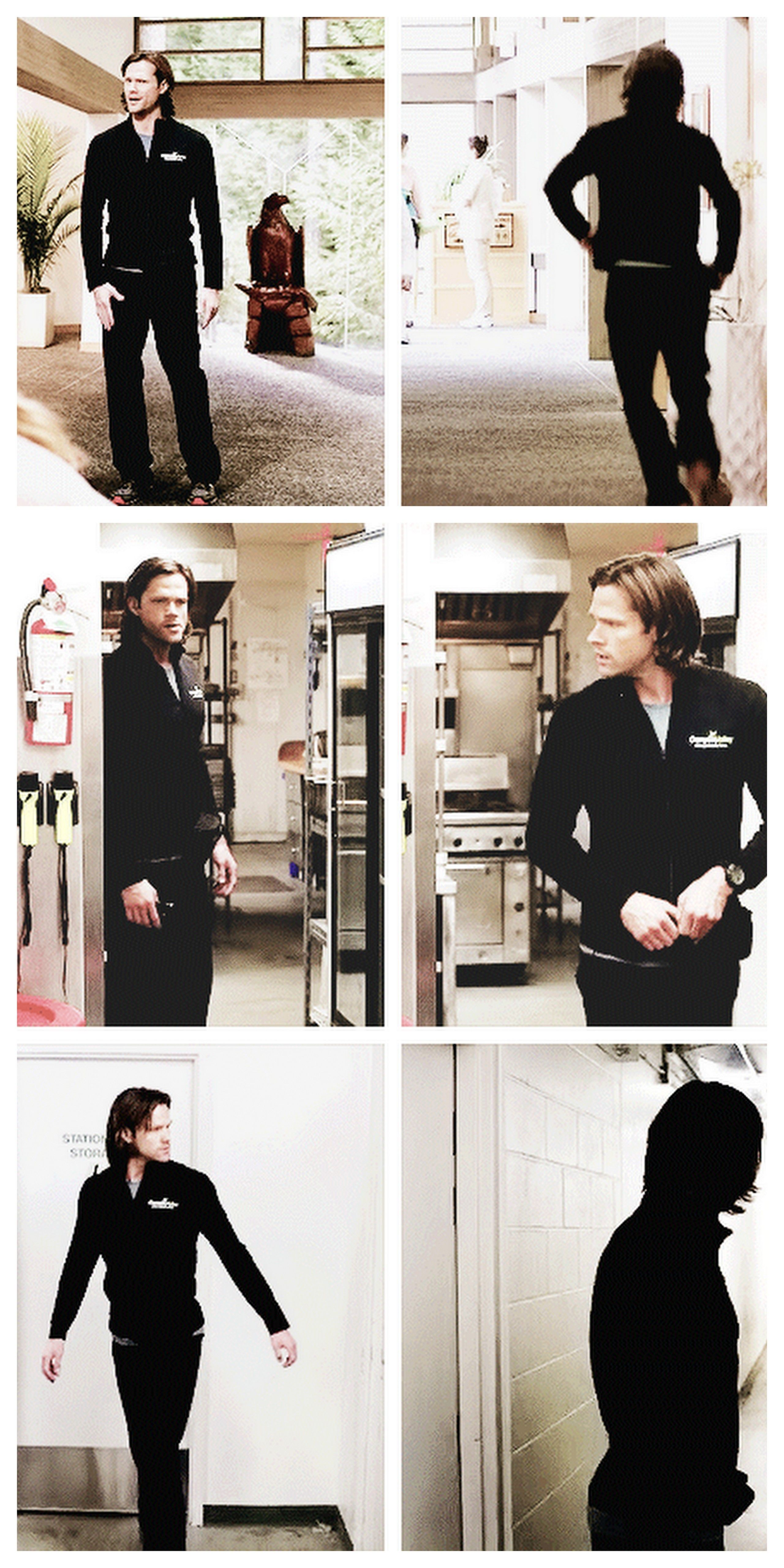 [gifset] - Sam - 9x13 The Purge (HOLY MOTHER OF GOD....Really, Sammy, you need to keep that tracksuit)