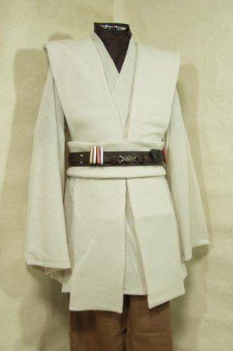 Amazon.com: Star Wars Kenobi Jedi TUNIC Hooded Robe Costume Cosplay ...