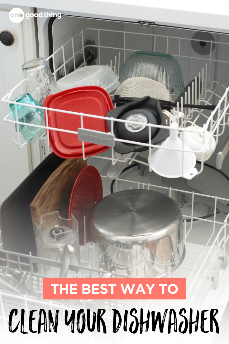 How To Clean A Dishwasher In 3 Steps One Good Thing By Jillee Cleaning Your Dishwasher Homemade Cleaning Supplies Cleaning Household