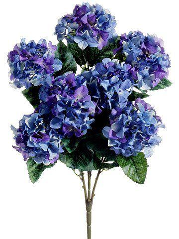 Purple and blue hydrangea silk flowers bush 25 silk flowers purple and blue hydrangea silk flowers bush 25 tall x 3 55 blooms mightylinksfo Images