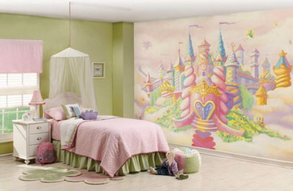 Candy Themed Bedroom · Candy Castle Mural