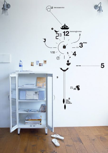 unusual wall stickers decorating vinyl wall decal clock from artstick the vinyl wall clock comes in kit with numbers clock